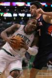 Atlanta Hawks v Boston Celtics: Glen Davis Zaza Pachulia Photographic Print by  Elsa