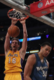 Washington Wizards v Los Angeles Lakers: Pau Gasol and Javale McGee Photographic Print by  Jeff