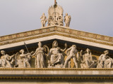 Pediment Sculptures Above the Colonnade  of the Academy of Athens Photographic Print by Richard Nowitz