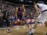 Detroit Pistons v Dallas Mavericks: Tayshaun Prince and Tyson Chandler Photographic Print by Danny Bollinger
