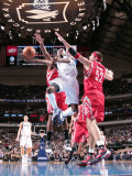 Houston Rockets v Dallas Mavericks: Jason Terry and Brad Miller Photographic Print by Glenn James