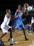 Tulsa 66ers v Texas Legends: Larry Owens and Dominique Jones Photographic Print by Layne Murdoch