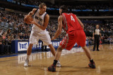 Houston Rockets v Dallas Mavericks: Dirk Nowitzki and Luis Scola Photographic Print by Danny Bollinger