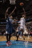 Minnesota Timberwolves v Dallas Mavericks: Shawn Marion, Corey Brewer and Darko Milicic Photographic Print by Danny Bollinger