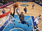 Golden State Warriors v Dallas Mavericks: Monta Ellis and Ian Mahinmi Photographic Print by Glenn James