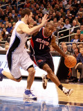 Atlanta Hawks v Orlando Magic: Jamal Crawford and J.J. Redick Photographic Print by Sam Greenwood