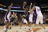 Indiana Pacers v Phoenix Suns: T.J. Ford, Goran Dragic and Channing Frye Photographic Print by Christian Petersen