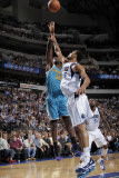 New Orleans Hornets v Dallas Mavericks: Emeka Okafor and Tyson Chandler Photographic Print by Glenn James