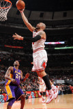 Los Angeles Lakers v Chicago Bulls: Carlos Boozer and Kobe Bryant Photographic Print by Andrew Bernstein