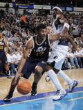 Utah Jazz v Dallas Mavericks: Ronnie Price and Jason Terry Photographic Print by Glenn James