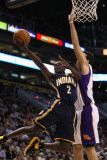 Indiana Pacers v Phoenix Suns: Darren Collison and Hedo Turkoglu Photographic Print by Christian Petersen