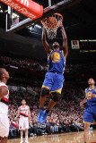 Golden State Warriors v Portland Trail Blazers: Dante Cunningham and Dorell Wright Photographic Print by Sam Forencich