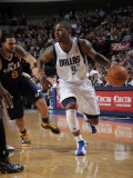 Utah Jazz v Dallas Mavericks: DeShawn Stevenson and Deron Williams Photographic Print by Glenn James