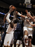 Memphis Grizzlies v Cleveland Cavaliers: Rudy Gay, Zach Randolph, J.J. Hickson and Anderson Varejao Photographic Print by David Liam Kyle
