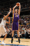 Los Angeles Lakers v Washington Wizards: Pau Gasol and JaVale McGee Photographic Print by Andrew Bernstein