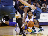 Minnesota Timberwolves v Golden State Warriors: Corey Brewer and Acie Law Photographic Print by Ezra Shaw