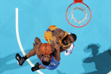 Oklahoma City Thunder v New Orleans Hornets: James Harden and D.J. Mbenga Photographic Print by Chris 