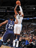 Memphis Grizzlies v Denver Nuggets: Carmelo Anthony and Rudy Gay Photographic Print by Garrett Ellwood