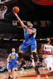 Golden State Warriors v Portland Trail Blazers: Patrick Mills and Acie Law Photographic Print by Sam Forencich
