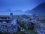 Houses in the Abandonded Village of Hirta Photographic Print by Jim Richardson