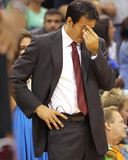 Miami Heat v Orlando Magic: Erik Spoelstra Photographic Print by Mike Ehrmann