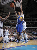 Golden State Warriors v Dallas Mavericks: Monta Ellis and Alexis Ajinca Photographic Print by Glenn James