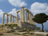 The Ruins of the Poseidon Temple at Cape Sounion Photographic Print by Richard Nowitz
