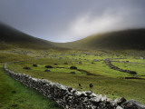 Drystone Wall Remnants of the Abandoned Village of Hirta Photographic Print by Jim Richardson