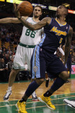 Denver Nuggets v Boston Celtics: J.R. Smith and Semih Erden Photographic Print by Elsa 