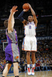 Phoenix Suns v Oklahoma City Thunder: Russell Westbrook and Goran Dragic Photographic Print by Layne Murdoch