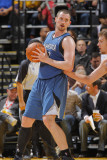 Minnesota Timberwolves v Golden State Warriors: Kevin Love and David Lee Photographic Print by Rocky Widner