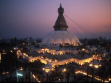 10,000 Butterlamps at the Bodnath Stupa Photographic Print by Alison Wright