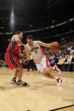 New Jersey Nets v Toronto Raptors: Andrea Bargnani and Kris Humphries Photographic Print by Ron Turenne
