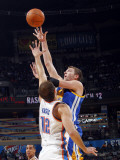 Golden State Warriors v Oklahoma City Thunder: David Lee and Nenad Krstic Photographic Print by Layne Murdoch
