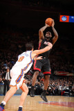 Miami Heat v New York Knicks: LeBron James and Danilo Gallinari Photographic Print by Nathaniel S. Butler