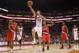 Portland Trail Blazers v Phoenix Suns: Steve Nash and Andre Miller Photographic Print by Christian 