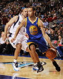 Golden State Warriors v Dallas Mavericks: Stephen Curry and Jason Kidd Photographic Print by Danny Bollinger