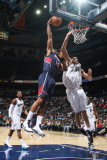 Washington Wizards v Atlanta Hawks: Al Horford and JaVale McGee Photographic Print by Scott Cunningham