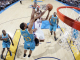 New Orleans Hornets v Oklahoma City Thunder: Eric Maynor and Willie Green Photographic Print by Layne Murdoch