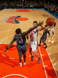 Charlotte Bobcats v New York Knicks: Danilo Gallinari and Kwame Brown Photographic Print by Nathaniel S. Butler