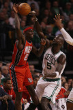 New Jersey Nets v Boston Celtics: Anthony Morrow and Kevin Garnett Photographic Print by  Elsa