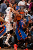 New York Knicks v Charlotte Bobcats: Raymond Felton and Shaun Livingston Photographic Print by Kent Smith