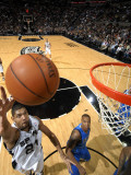 Dallas Mavericks v San Antonio Spurs: Tim Duncan and Caron Butler Photographic Print by D. Clarke Evans