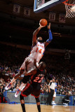 Miami Heat v New York Knicks: Ronny Turiaf and James Jones Photographic Print by Nathaniel S. Butler