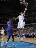 Detroit Pistons v Dallas Mavericks: Jason Kidd and Rodney Stuckey Photographic Print by Danny Bollinger