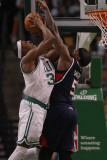 Atlanta Hawks v Boston Celtics: Paul Pierce and Josh Smith Photographic Print by  Elsa