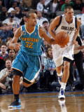 New Orleans Hornets v Dallas Mavericks: Jerryd Bayless and Dirk Nowitzki Photographic Print by Layne Murdoch