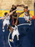 Miami Heat v Memphis Grizzlies: LeBron James, Rudy Gay, Marc Gasol and Darrell Arthur Photographic Print by Joe Murphy