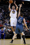 Minnesota Timberwolves v Golden State Warriors: David Lee and Kevin Love Photographic Print by  Ezra