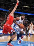 Chicago Bulls v Denver Nuggets: Nene and Joakim Noah Photographic Print by Garrett Ellwood